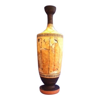 Greek Mid-Century Muse Motif Lekythos Replica For Sale