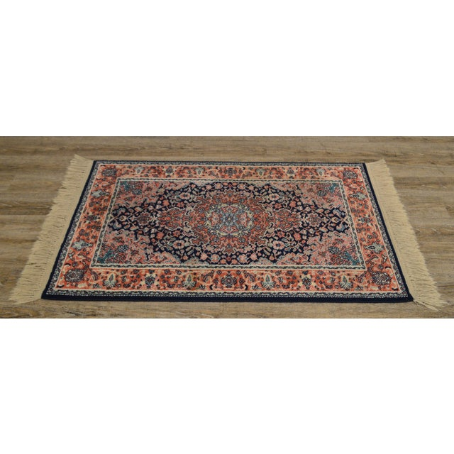 "1990s Karastan Kashan Medallion 2'10"" X 5' Throw Rug #741 (A) For Sale - Image 5 of 13"
