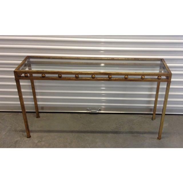 Vintage Gilt Metal Console Table - Image 3 of 5