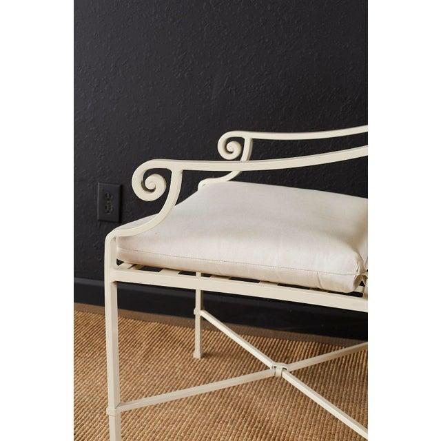 White Set of Six Brown Jordan Aluminium Patio Garden Chairs For Sale - Image 8 of 13