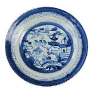 18th Century Canton Ware Plate For Sale