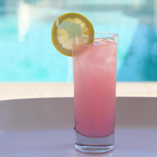 Hot Pink Elephant Drink Stirrers - Set of 6 - Image 4 of 6
