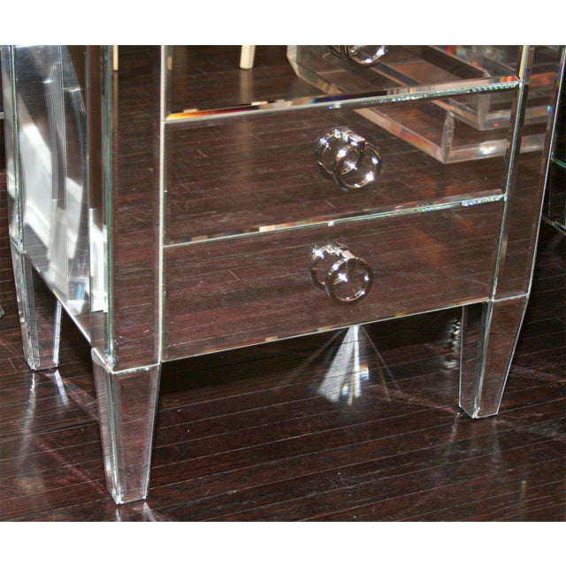 Venfield Pair of Custom Mirrored End Tables For Sale - Image 4 of 9