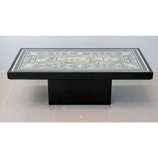 Fine Italian Scagliola 18th Century Table Top Mounted in a Low Table For Sale In Miami - Image 6 of 11