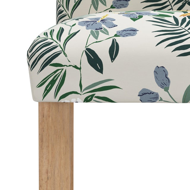 Not Yet Made - Made To Order Counter Stool in Belize Chinoiserie Cream For Sale - Image 5 of 8