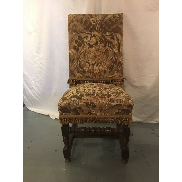 Early 18th Century Antique Louis XVIII Period Side Chairs With 19th Century Upholstery - a Pair For Sale - Image 5 of 8