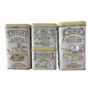 Vintage Kitchen Canisters - Set of 4 For Sale