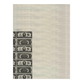 Andy Warhol, Eighty Two-Dollar Bills, Front and Rear (Detail), Offset Lithograph, 1990 For Sale