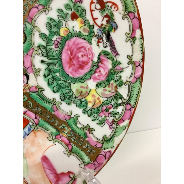 1930s 1930s Vintage Hand-Painted Chinese Decorative Plate For Sale - Image 5 of 9