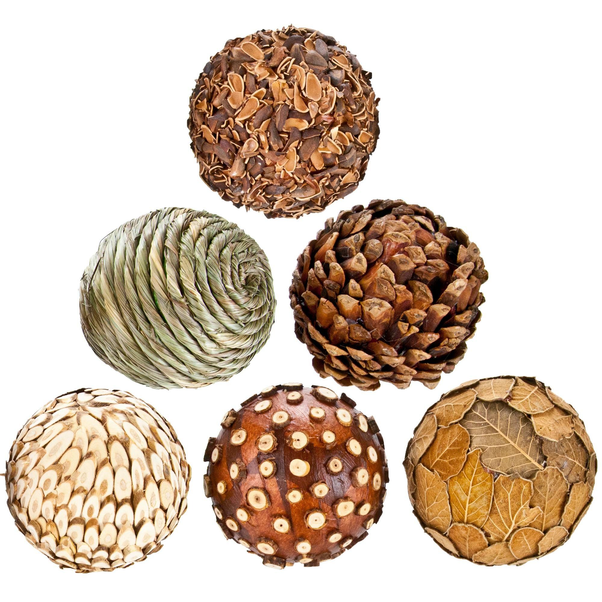 Natural Decorative Balls Classy Natural Decorative Balls  Set Of 6  Chairish Design Ideas