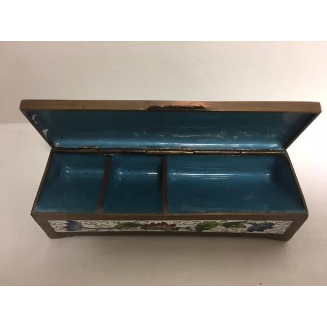 Antique Cloisonne Stamp Box For Sale In Chicago - Image 6 of 8