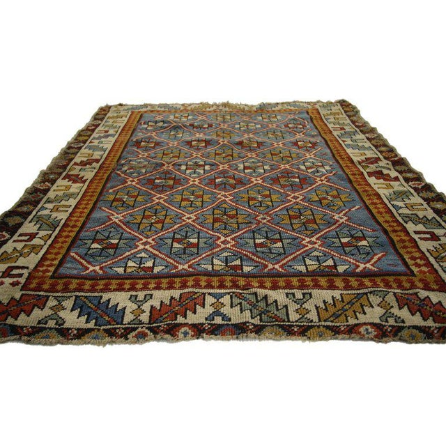 Contemporary 19th Century Russian Caucasian Shirvan Rug - 3′4″ × 4′ For Sale - Image 3 of 6