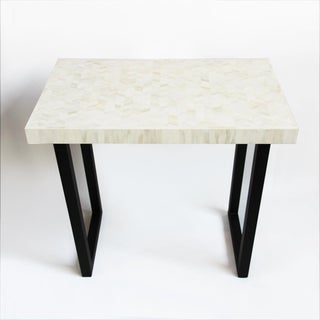 Tall White Inlay Herringbone Console Preview