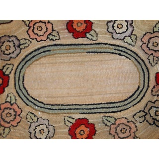 1900s, Handmade Antique American Hooked Rug 2.1' X 3.3' Preview