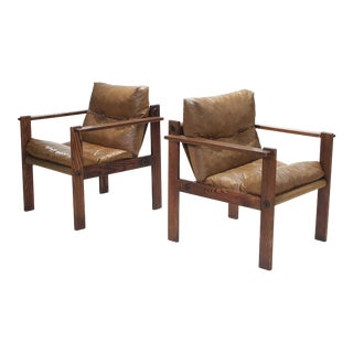 Mid-Century Sling Lounge Chairs - a Pair For Sale