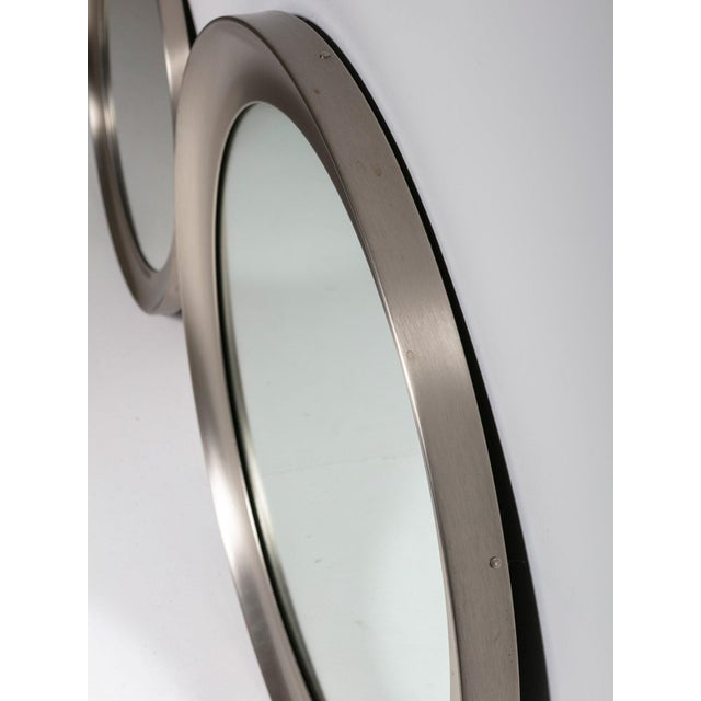 """Sergio Mazza Pair of """"Narcisso"""" Wall Mirrors by Sergio Mazza for Artemide For Sale - Image 4 of 6"""