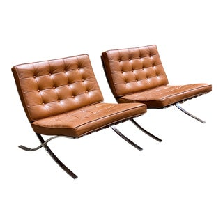 Barcelona Chairs for Charlton, Pair For Sale
