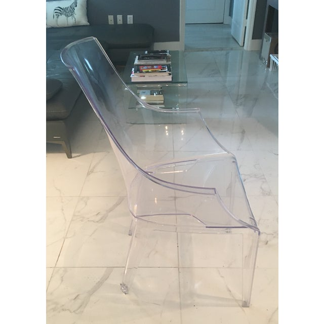 2010s Mitchell Gold and Bob Williams Clair Clear Transparent Dining Chairs - A Pair For Sale - Image 5 of 7