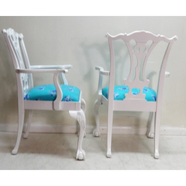 Mid 20th Century Lively Accent Chairs - a Pair For Sale - Image 5 of 6