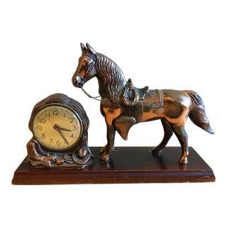 1940's Vintage Horse Desk Clock For Sale