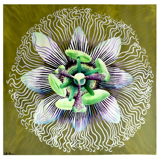 Passion Flower Acrylic Painting - Image 1 of 8