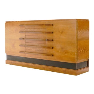 1920s Louis Majorelle Art Deco Cerused Oak Sideboard, Signed For Sale