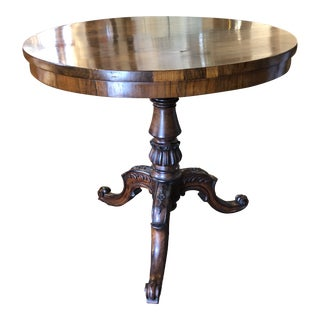 19th Century English Regency Rosewood Pedestal Table For Sale