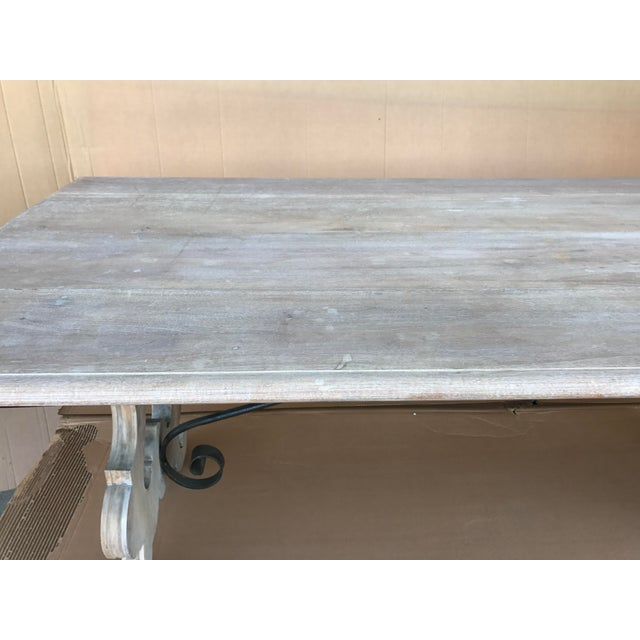 Spanish Cerused Trestle Table For Sale In Nashville - Image 6 of 7