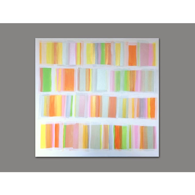 """Time Management"" Original Abstract Painting by Linnea Heide - Image 3 of 6"