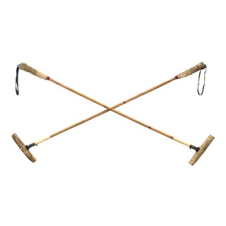 Vintage Bamboo Polo Mallets, a Pair