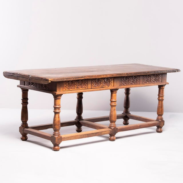 Portuguese All Original 18th Century Carved Walnut Table For Sale - Image 4 of 13