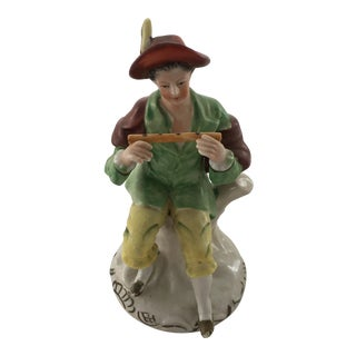 Antique Staffordshire Type Flute Player For Sale