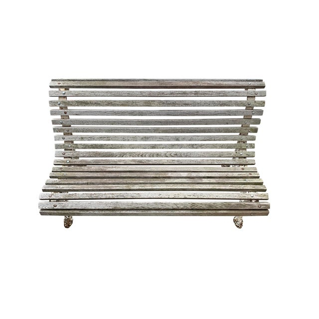Early 20th Century Parisian Faux Bois Bench For Sale - Image 4 of 12