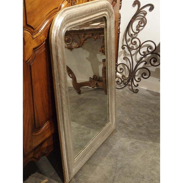 Antique French Louis Philippe Silverleaf Mirror For Sale - Image 4 of 9