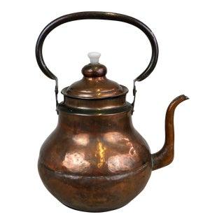Antique Vintage Handmade Hand Hammered Copper Teapot