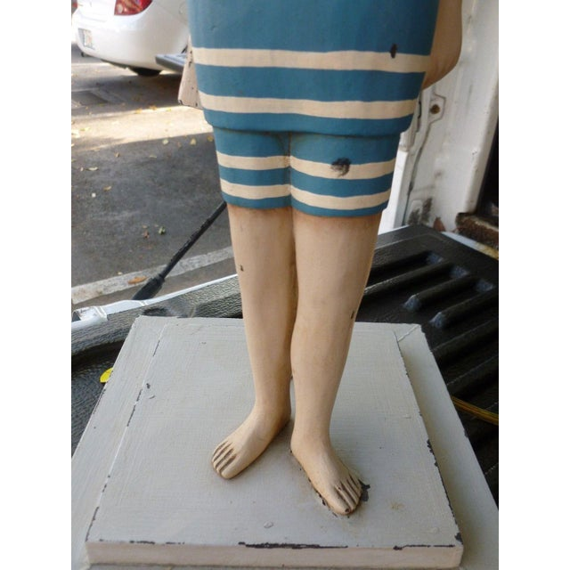 1990s Vintage Figure in Swimming Suit Lamp For Sale - Image 4 of 7