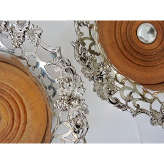 Fine Victorian English Silver-Plated Reticulated Wine Bottle Coasters - a Pair Preview