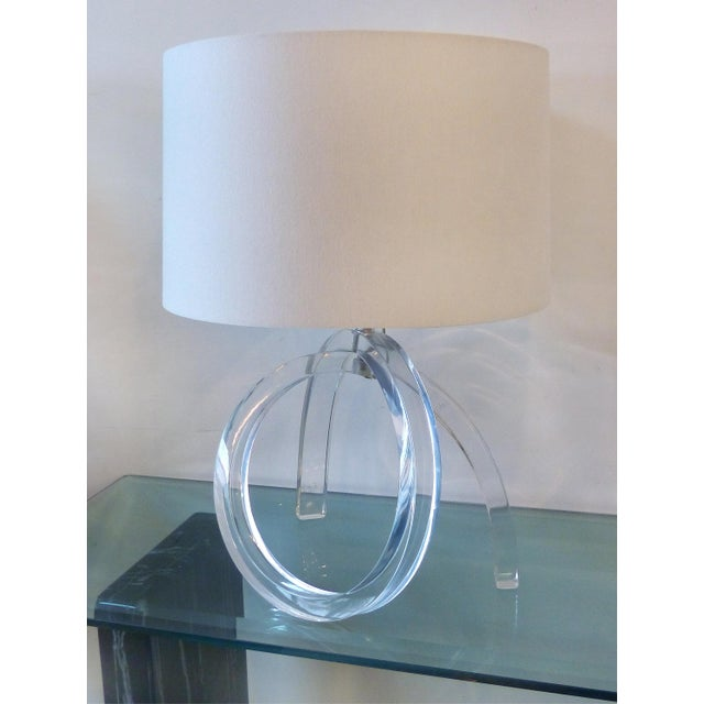 Mid-century Sculptural Lucite Table Lamp - Image 2 of 11