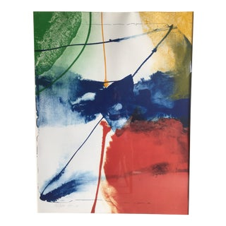 1980s Vintage Paul Jenkins Abstract Expressionist Lithograph Print For Sale