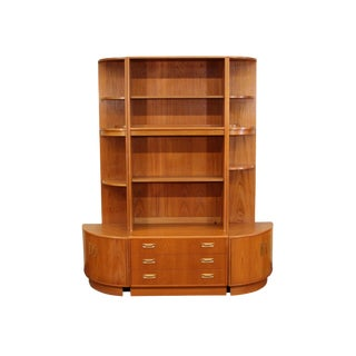 Mid Century 6 Piece Teak Wall Unit by G Plan For Sale