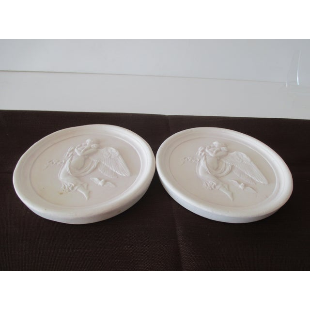 Late 20th Century Vintage Bisque Plaster Intaglios - a Pair For Sale - Image 5 of 7