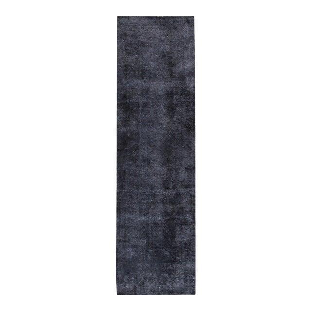 "Apadana - Vintage Overdyed Rug, 3'1"" x 11'2"" For Sale"