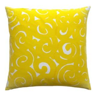 Marimekko Rare Vintage 1960's Mid Century Scandinavian Modern Large Square Throw Pillow For Sale