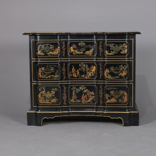 Chinoiserie Gilt Decorated Et Cetera Serpentine 3-Drawer Chest by Drexel Preview