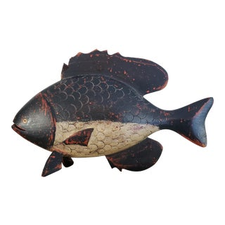 K. William Kautz Hand Carved Fish Figurine For Sale