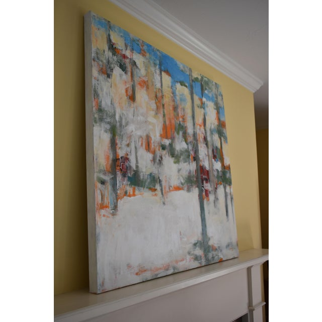 """Modern """"Hunters in the Snow"""" Abstract Painting by Stephen Remick For Sale - Image 10 of 13"""