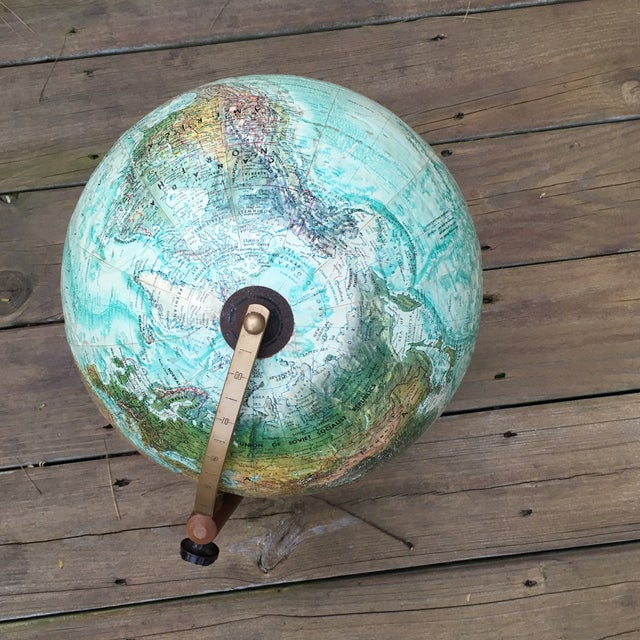 Vintage Replogle Globe on Stand For Sale - Image 4 of 5