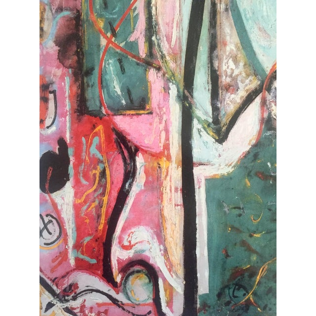 "Jackson Pollock Foundation Abstract Expressionist Collector's Lithograph Print "" the Moon - Woman "" 1942 For Sale - Image 9 of 13"