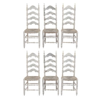 Traditional Set of Six French Provincial Dining Chairs For Sale