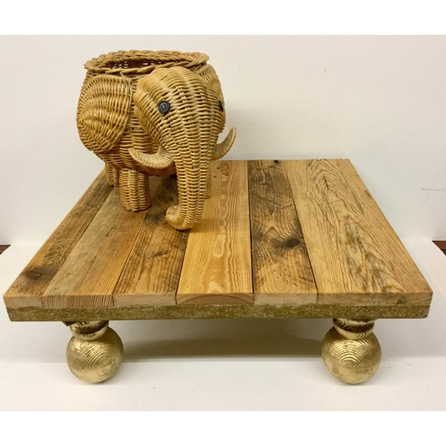 Rustic Low Reclaimed Hardwood Meditation Table For Sale - Image 11 of 13
